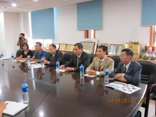 Lễ ký kết hợp đồng cung cấp và lắp đặt hệ thống máy bơm chữa cháy cho Trung tâm huấn luyện TDTT tỉnh Thái Bình