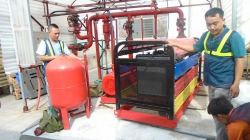 Lắp đặt máy bơm chữa cháy tinh xảo
